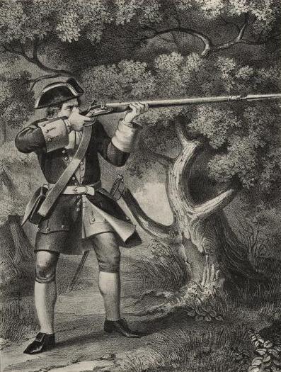 Гренадер полка 1702-09 гг. Рис. С.Летина.